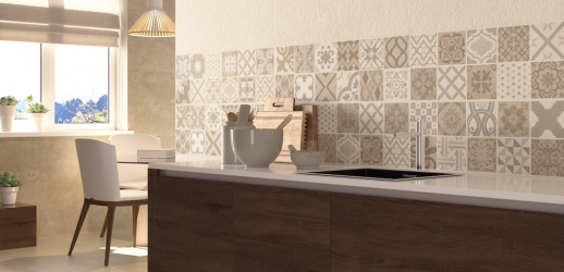 Decorado Mosaico Reine Vintage Almond Rectificado 30x90