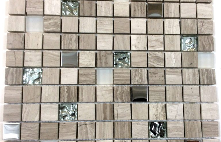 Mosaico Eclipse Cristal-Marmol 2.3x2.3x8 (30x30)