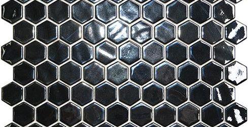 Mosaico Hexagon Opalo Black Cristal 2.5x3.1x4.4 (29x30.1)