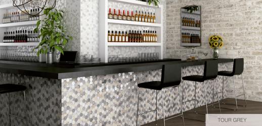 Mosaico Living Gray cristal-procelanico 5x5x5 (30x30)