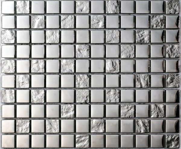 Mosaico Luxury Silver Cristal-Metal 2.3x2.3x8 (30x30)