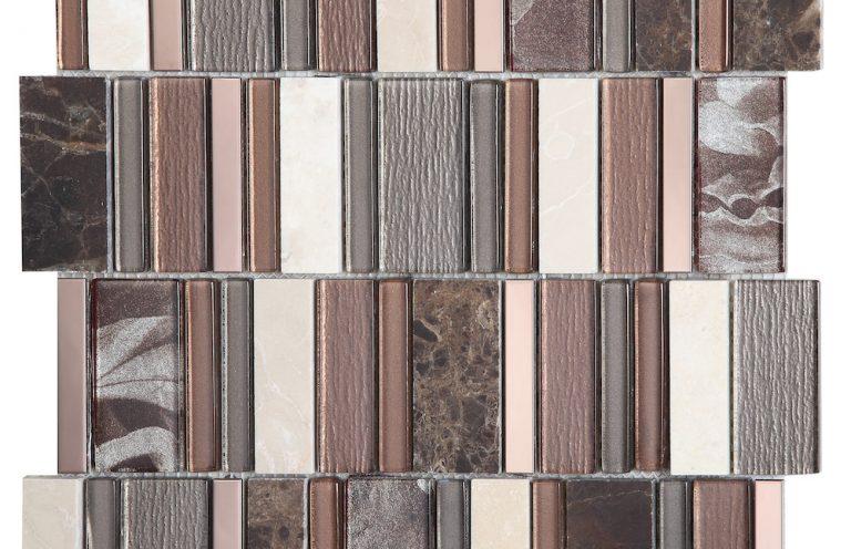 Mosaico Stripes Cinnamon Cristal-Marmol (30x30)