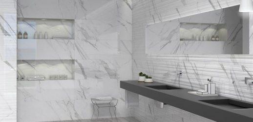 Cerámica Calacatta White Rect. 40x120-La Iberica