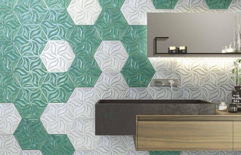 Porcelanato Ivy Mist 28.5x33 + Porcelanato Ivy Teal 28.5x33_