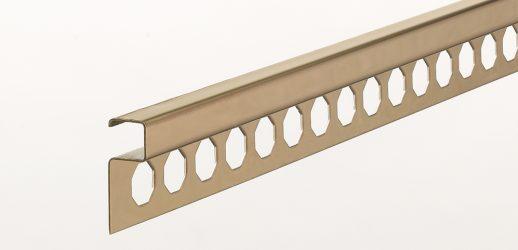 Perfil Oro Brillo Aluminio